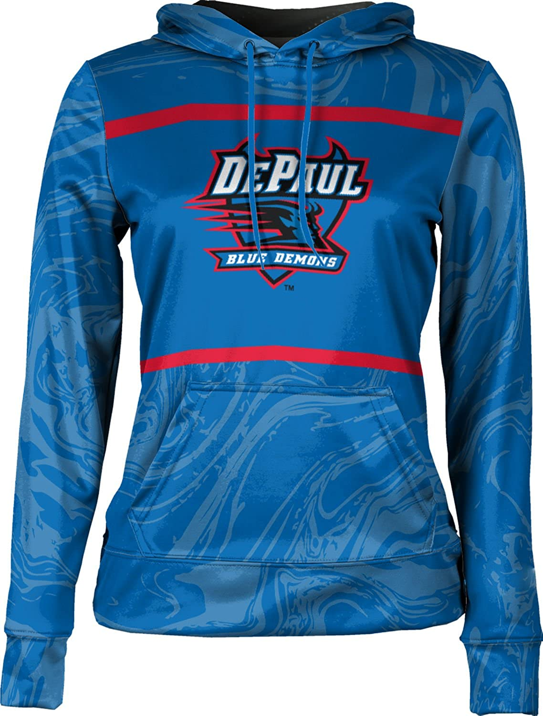 ProSphere DePaul University Girls' Pullover Hoodie, School Spirit Sweatshirt (Ripple)