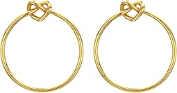 Loves Me Knot Hoops