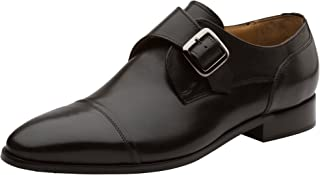 DAPPER SHOES CO. Handcrafted Men's Classic Double Monkstrap Leather Lined Oxfords Shoes