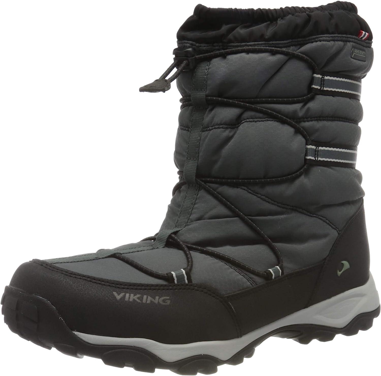 Viking Men's Snow Boot, Black Charcoal, 4 us