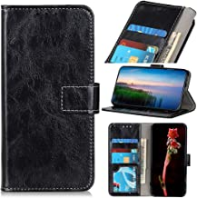 Mobile phone case Retro Crazy Horse Texture Horizontal Flip Leather Case with Holder & Card Slots & Wallet & Photo Frame for LG W30(Black) (Color : Black)