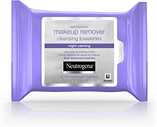 Neutrogena Makeup Remover Cleansing Towelettes, Night Calming, 25 Towelettes
