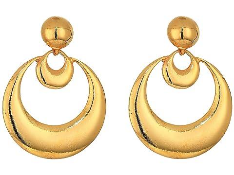 Oscar de la Renta Metal Moon Small Earrings
