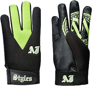 WWE Authentic Wear AJ Styles Green Replica Gloves