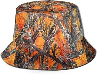 Realtree Camo Orange Unisex Hat Fisherman Hat Sun Visor Hat for Summer Beach