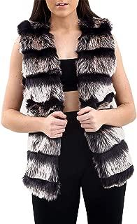 DigitalSpot Ladies Faux Fur Gilet Sleeveless Winter Party Wear Waistcoat Jacket Outwears