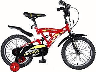 """Vaux Bicycle for Kids- Vaux Eco-Sus Sport 16T Kids Bicycle for Boys. Ideal for Cyclist with Height (3'5"""" – 4') – Red"""
