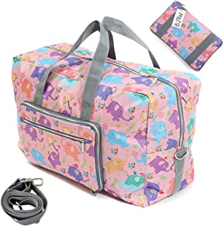 66d63fd90548 WFLB Travel Duffel Bag Foldable Floral Large Travel Bag Weekend Bag Checked Bag  Luggage Tote 18