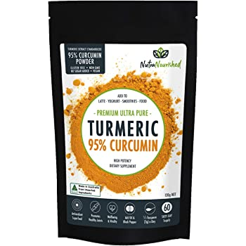Tumeric Curcumin 1,000mg Supplement with Black Pepper (4.23oz), Premium Arthritis Pain & Joint Supplements for Women & Men, 95% Standardized Curcumin Powder (not Turmeric Bioperine Capsule)