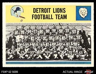 1964 Philadelphia # 69 Lions Team Detroit Lions (Football Card) Dean's Cards 5 - EX Lions