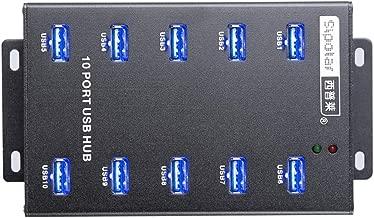 Sipolar-USB Hub- 10 Ports USB Data Hub-Industrial USB Powered Hub - USB 2.0 Hub for Mining, Bitcoin Miner