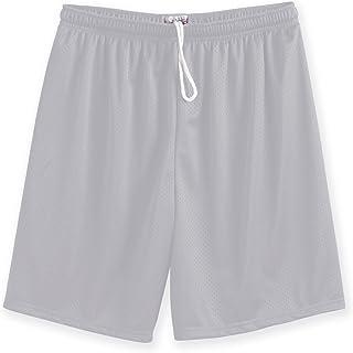 Silver Small A4 Big Boys Lightweight Woven Soccer Shorts