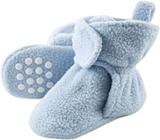Luvable Friends Baby Cozy Fleece Booties with Non Skid Bottom