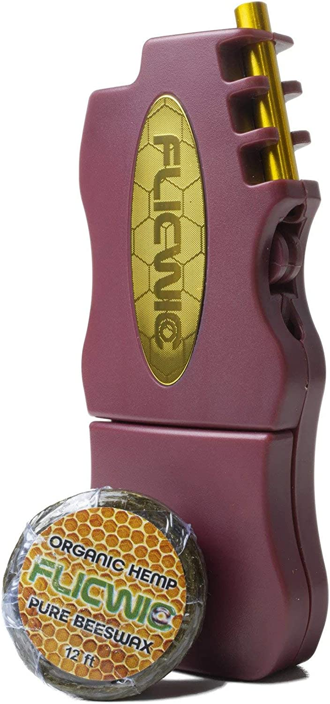 FlicWic Hemp Wick Cranberry and Lighter Gold Dispenser Case for Denver Mall High material