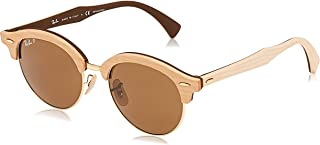 Rb4246m Clubhouse Wood Round Sunglasses