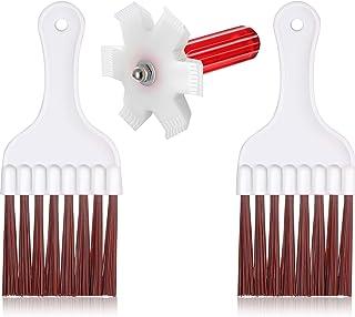 3 Piezas Condensador Aleta Enderezadora AC Aleta Peine Aire Acondicionado Condensador Aleta Cepillo de Limpieza Refrigerador Bobina de Limpieza Whisk Brush