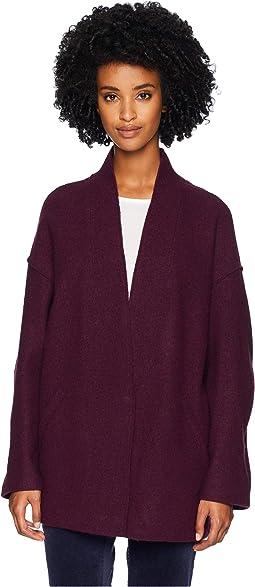 Lightweight Boiled Wool Kimono Bracelet Sleeve Jacket