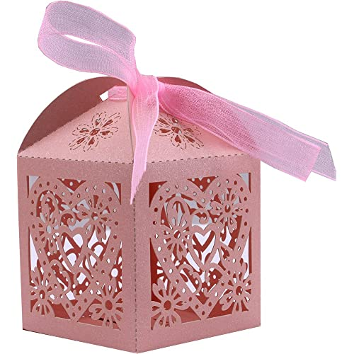 b1e2389feb9 DriewWedding 50PCS Wedding Bridal Favor Gift Boxes