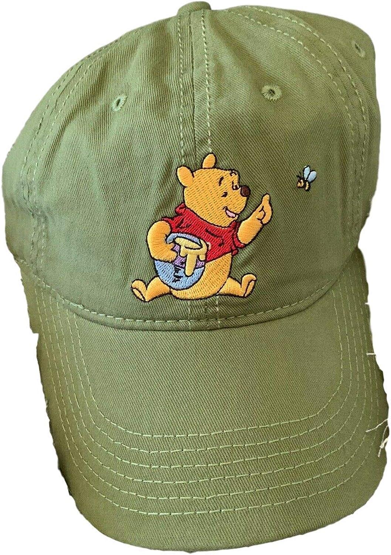 Disney Winnie The Pooh Cartoon Green Honey Adult Baseball Hat Cap Adjustable