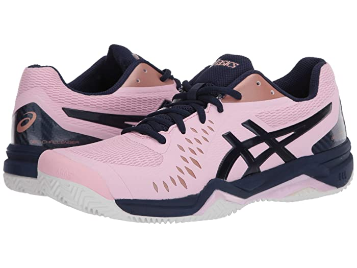 ASICS  Gel-Challenger 12 Clay (Cotton Candy/Peacoat) Womens Tennis Shoes