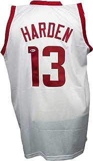 James Harden Signed Custom White Pro-Style Basketball Jersey BAS