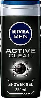 NIVEA MEN Active Clean Charcoal Shower Gel 3 In 1 Woody Scent, 250 ml