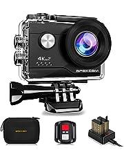 【4K超高画質】Apexcam アクションカメラ 4K 2000万画素 SONYセンサー WiFi搭載 40M防水[メーカー1年保証] 1050mAhバッテリー 170度広角レンズ リモコン付き 2インチ液晶画面 HDMI出力 アクセサリーセット付き スポーツカメラ ウェアラブルカメラ 水中カメラ 防犯カメラ