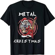 Heavy Metal Christmas Metalhead Santa Rock Horns Death Metal T-Shirt