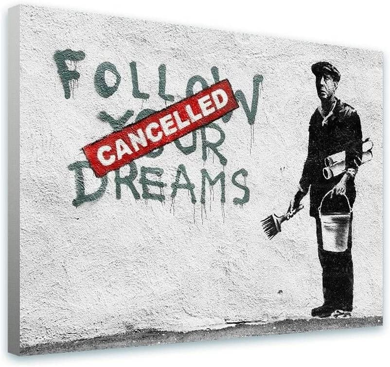 Alonline Art - Follow Your Dreams Challenge the lowest price of Japan Albuquerque Mall by framed s Cancelled Banksy