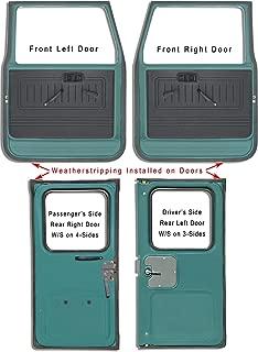 CoolCruisers Door Weatherstrips, Set of 4, Fits Toyota Land Cruiser FJ40 FJ43 FJ45 BJ40 BJ42 BJ45 HJ47 Years 1975-1984