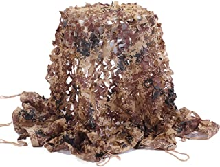 Senmortar Camo Netting, Camouflage Net Army Mesh nets Lightweight Durable for Sunshade Decoration Hunting Blind Shooting Camping Photography
