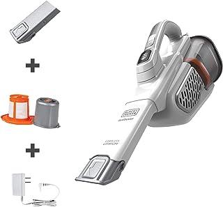 Black+Decker Dustbuster aspiradora de mano, sin cable, AdvancedClean+, blanco (HHVK320J10)