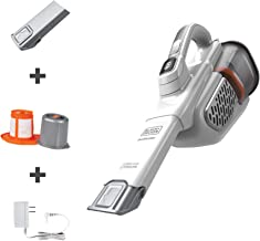 BLACK+DECKER dustbuster Handheld Vacuum, Cordless, AdvancedClean+, White (HHVK320J10)