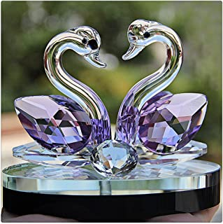 Litetao Lotus Crystal Glass Figurine Paperweight Ornament Feng Shui Decor Collection For Gift/Home Decoration/Office Decor