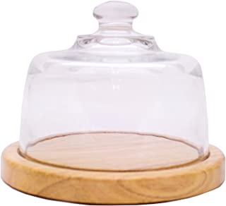 Perfect Partners Glass Cheese Dome With Wooden Base