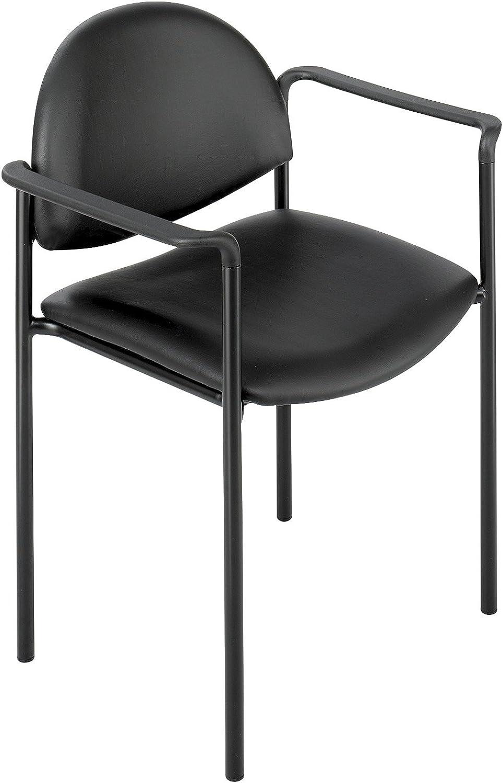 Safco SAF7011BL Wicket 7011 Stack Chair, 22-1 4  x 20-3 4  x 31 , Black Vinyl