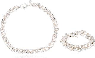 Mestige Set Of Necklace And Bracelets For Women, Silver - MSSE3066