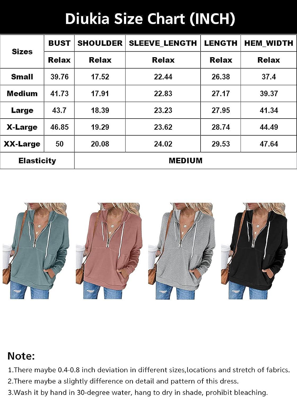 Diukia Women's Cute Color Block Half Zipper Hoodie Sweatshirt Long Sleeve Drawstring Pullover Tops with Kangaroo Pocket S-2XL
