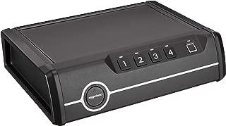 AmazonBasics - Caja fuerte de acceso rápido y de alta calidad para arma de fuego, con cierre biométrico de huellas dactilares