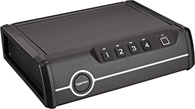 AmazonBasics Deluxe Quick-Access Firearm Safety Device with Biometric Fingerprint Lock