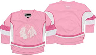 Reebok NHL Infant Chicago Blackhawks Ice Hockey Blank, Pink/White, 3T