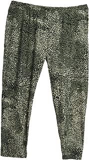 Women's Plus Black/White Leopard Spandex Silky Soft Tights Yoga Pants Leggings
