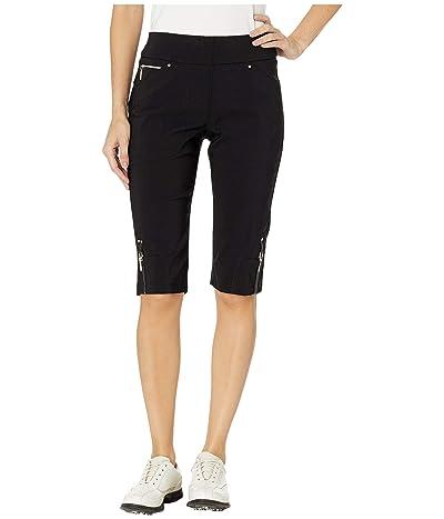 Jamie Sadock 24.5 Skinnylicious Pull-On Knee Capris (Jet Black) Women