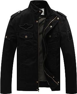 WenVen Men's Casual Cotton Jackets