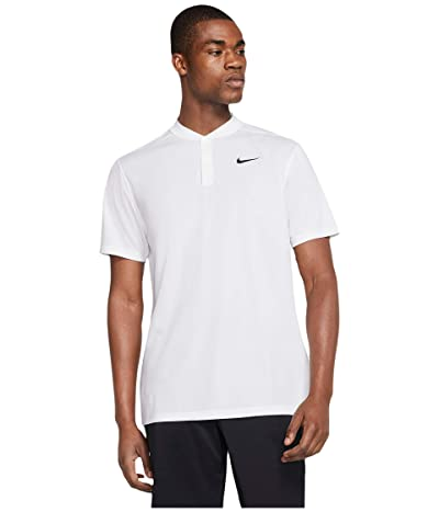 Nike Golf Dri-FITtm Victory Blade Polo (White/Black) Men