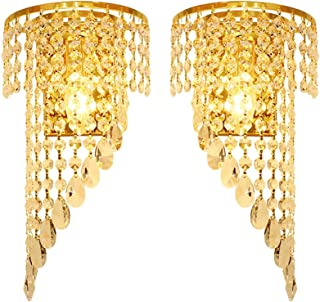 Sconce/Wall Sconces LED Wall Lamp European Style Stainless Steel Crystal Wall Lamp Bedroom Living Room Creative Crystal De...