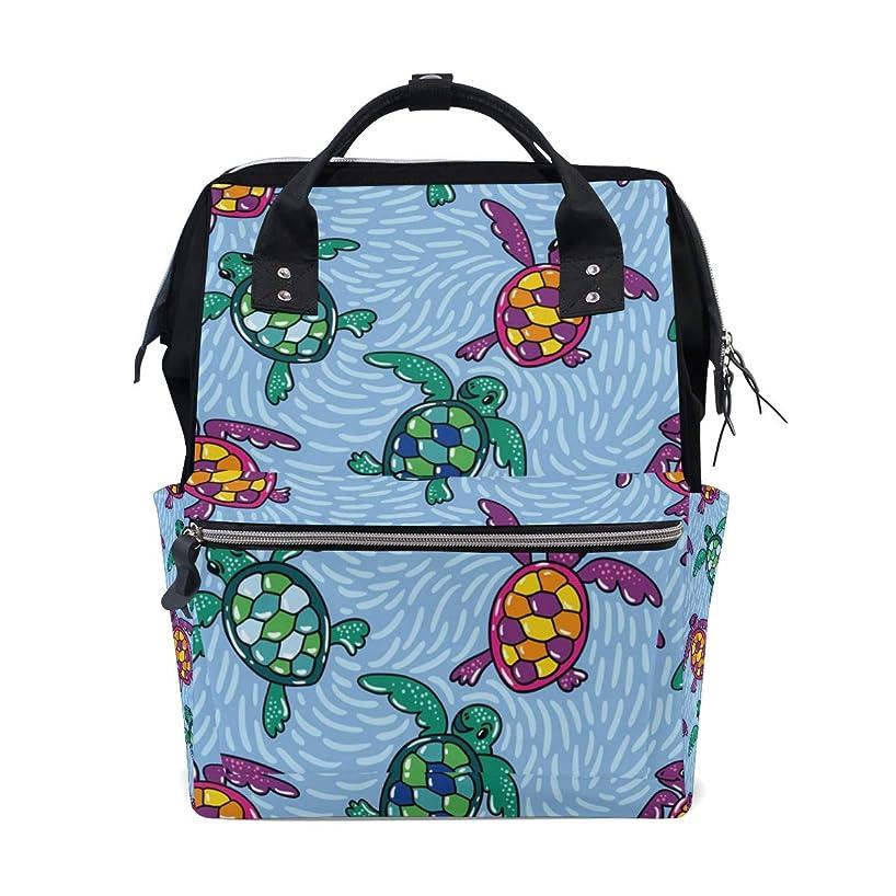 Boho Sea Turtle School Backpack Large Capacity Mummy Bags Laptop Handbag Casual Travel Rucksack Satchel For Women Men Adult Teen Children