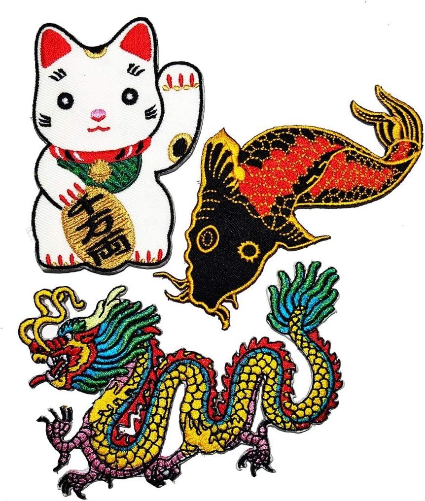 PP Patch quality assurance Set Cute Maneki-Neko Topics on TV Cat Japan Japanese Lucky