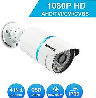 COSOOS Telecamera di sicurezza Bullet 1080P 1920TVL ibrida 2.0 Megapixel 4-in-1 HD-TVI/CVI/AHD/CVBS Telecamera di sorveglianza esterna/Interna impermeabile obiettivo 36 mm 48 LED