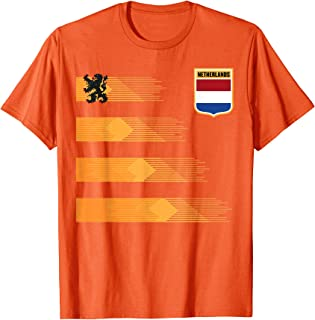 Women Men Netherlands Soccer Shirt Holland Cheer Jersey 2019 T-Shirt